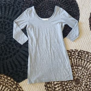 Gray 3/4 sleeve fitted dress